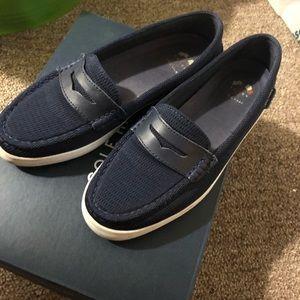 Cole Haan navy blue slip on shoe